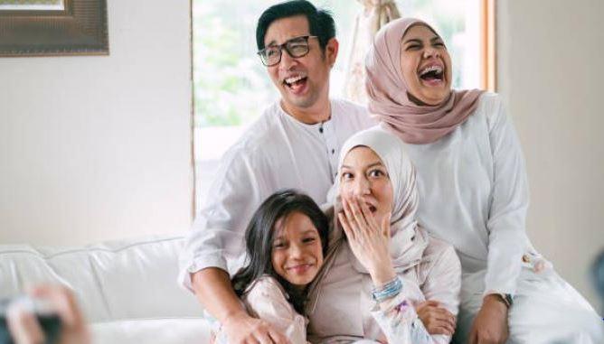 Foto Lebaran Keluarga Kreatif