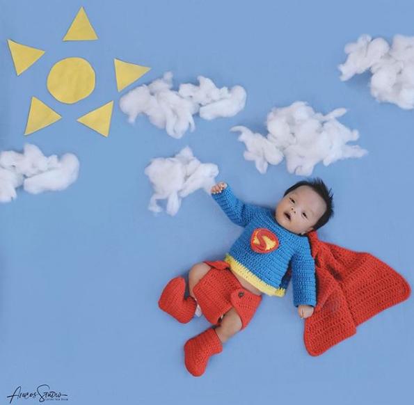 Lucunya supermen saat bayi