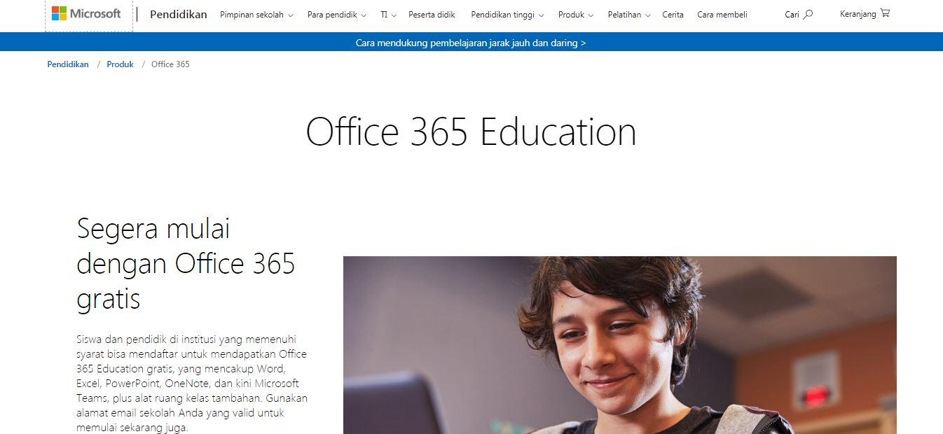 Aplikasi Belajar Online Microsoft Office 365 For Education