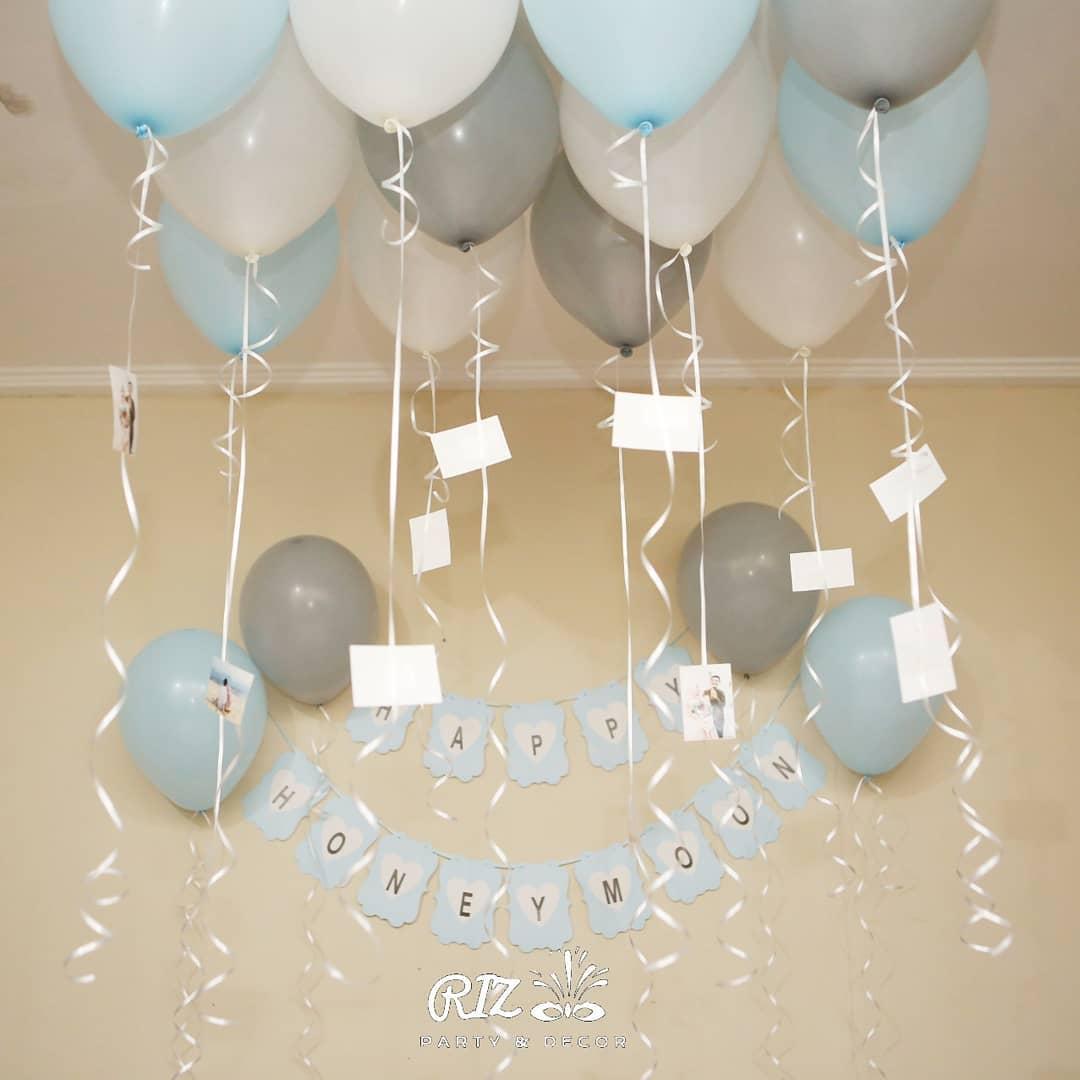 Dekorasi Lamaran Sederhana Mengandalkan Dinding Rumah Dan Tambahan Balon