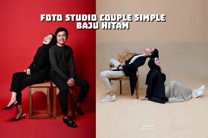 10 Foto Studio Couple Simple Baju Hitam