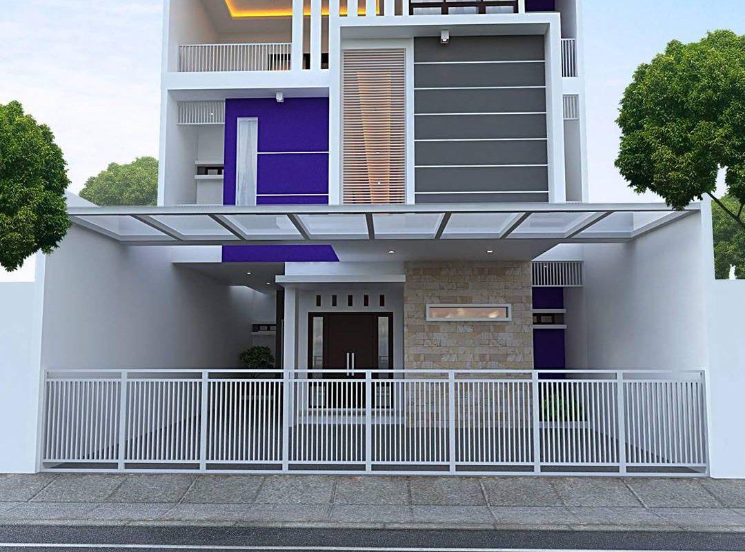 Model Rumah Minimalis Tampak Depan Mewah 2 Lantai