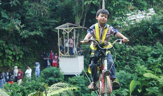 Sepeda Gantung Curug Landung