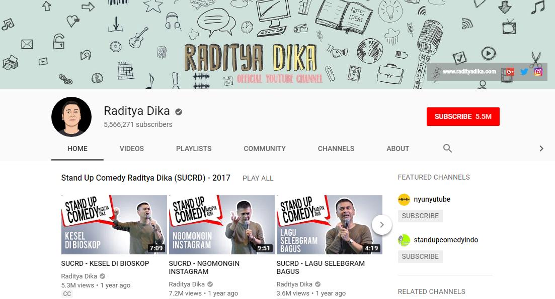 5 Youtuber Dengan Subscriber Terbanyak Di Indonesia Saat Ini