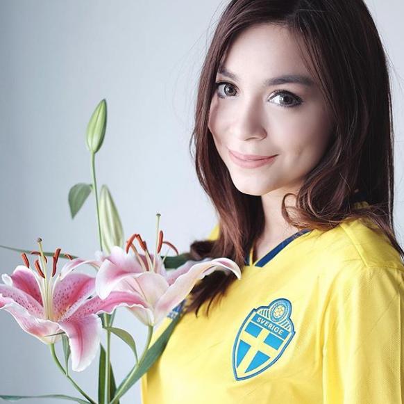 Sandra Olga presenter Wanita Cantik Pembawa Berita Bola